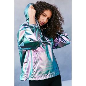 Silence and noise iridescent windbreaker